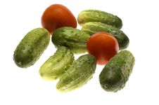 Free Tomato With Cucumber Royalty Free Stock Photos - 4487718