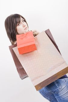 Free Woman With Shopping Bags Stock Images - 4489284