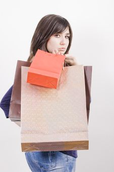 Free Woman With Shopping Bags Royalty Free Stock Photography - 4489307