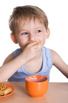 Free Breakfast Of The Child Stock Photography - 4489612