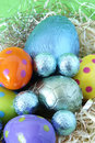 Free Easter Eggs Lying In Straw Stock Photos - 4495013
