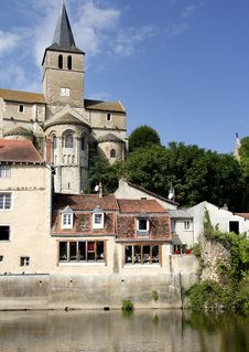 Free Medieval Riverside Village In France Stock Photography - 4490072