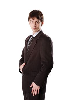 Free Young Man In Dark Suit Royalty Free Stock Images - 4490169