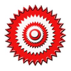 Free Red White Concentric Circles Stock Image - 4490481