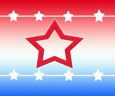 Free Red White Blue Stars Stock Image - 4491041