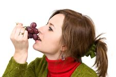 Free Holding Grapes In The Palm Stock Photos - 4491273
