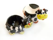 Free Cat And Cow - Decorative Figures Stock Image - 4491361