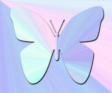 Free Pastel Bluepink Butterfly Stock Image - 4491601