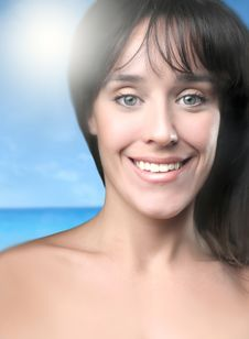 Free Girl And Sun Royalty Free Stock Photos - 4491768