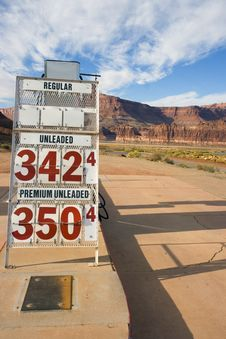 Free Remote Gas Station In Utah Stock Images - 4491944