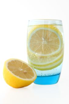 Free Lemon In Water. Stock Image - 4491971