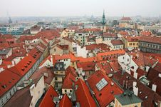Aerial View Of Old Town Square Royalty Free Stock Images