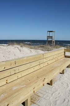 Free Wood Bench At Beach Royalty Free Stock Photo - 4492275
