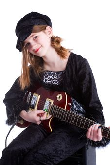 Free Tween Rock Star Royalty Free Stock Images - 4492369