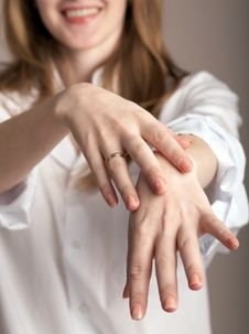Free A Woman Showing Her Hands Stock Images - 4492704