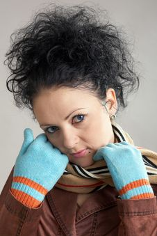 Free A Nice Girl In Gloves Stock Photos - 4492783