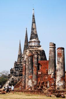 Free Wat Phra Si Sanphet Royalty Free Stock Photos - 4493148