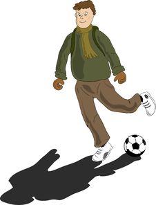Free School Boy Shooting A Ball.jpg Stock Photo - 4493860