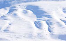 Snowdrifts Royalty Free Stock Photo