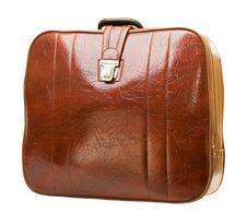 Free Brown Leather Suitcase Royalty Free Stock Images - 4494199
