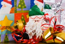 Free Santa Puppet With Gifts Stock Image - 4494341