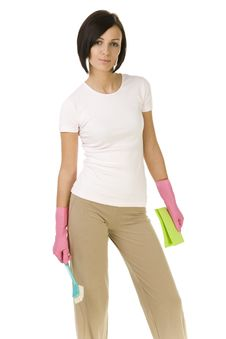 Free Woman Ready To Clean Up Stock Photo - 4494600