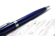 Free Pen On The Calendar Royalty Free Stock Photo - 4495225