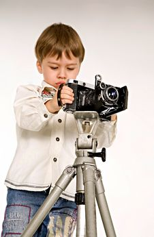 Young Photographer Stock Image
