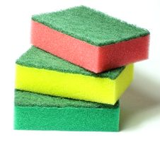 Free Chatri Small Colored Sponges Royalty Free Stock Images - 4495819