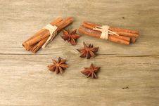 Cinnamom And Star Anise Stock Photography
