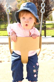 Free Girl On Swing Stock Photos - 4496223