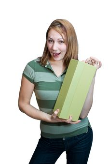 Free Woman With Box 1 Royalty Free Stock Photography - 4496447