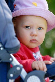 Child In A Pram Stock Photo