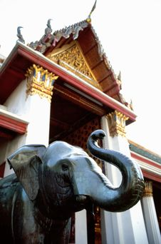 Free Elephant In Buddhist Temple Stock Image - 4497671