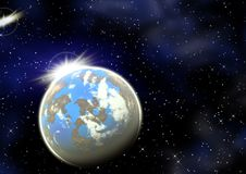 Planet In A Space. Royalty Free Stock Image