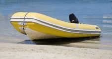 Free Dingy On Beach Stock Photography - 4499132