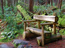 Log Bench Royalty Free Stock Photos