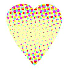 Free Colorful Halftone Heart Royalty Free Stock Image - 4499456