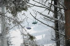 Free Chairlift Royalty Free Stock Photography - 450607