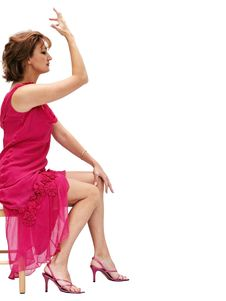 Free Woman In A Pink Dress Royalty Free Stock Image - 450646