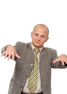 Crazy Rapping Businessman Royalty Free Stock Photography