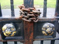 Chained Gates Stock Photo
