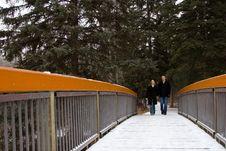 Free Snow Covered Bridge Stock Photography - 452022