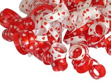 Free Valentine Ribbon Royalty Free Stock Photography - 452027