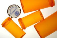 Free Empty Pill Bottlesand Cap Stock Image - 452851