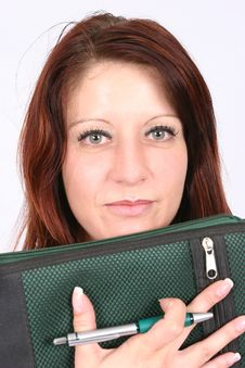 Free Businesswoman Holding A File Stock Images - 454274