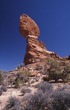 Free Balanced Rock Royalty Free Stock Images - 456189