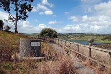 Forgotten Bin At The Reservoir Stock Photography