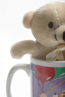 Free Small Teddy Bear In A Coffee Cup Stock Photos - 458083
