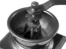 Old Coffee Grinder Detail Stock Photography